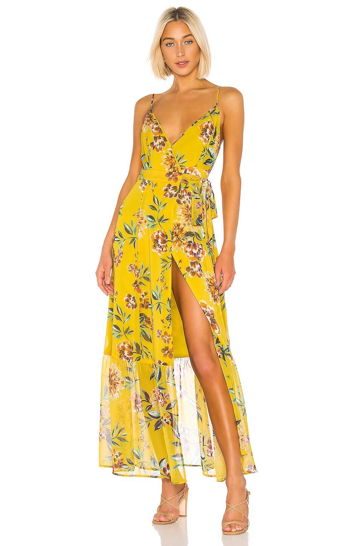 Tularosa Aubrie Dress in Yellow Dahlia