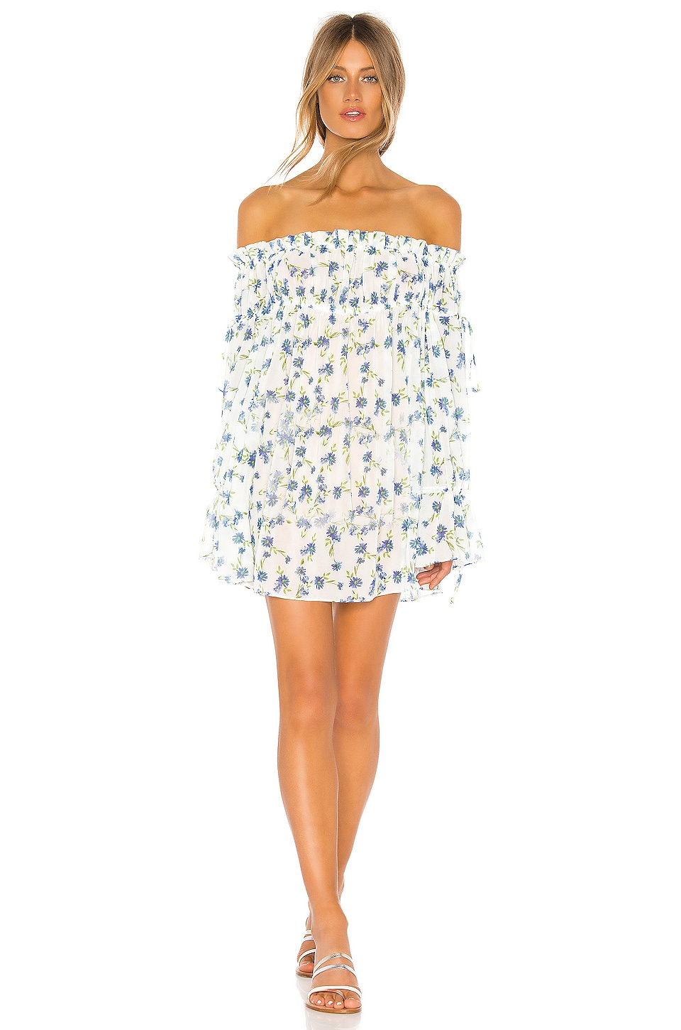Tularosa Brogan Mini Dress in Forget Me Not Floral