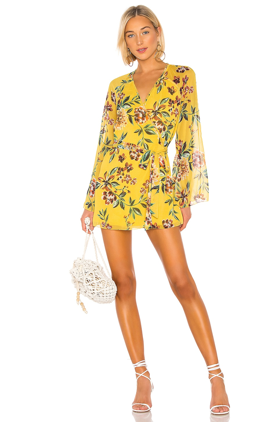 Tularosa Robin Dress in Yellow Dahlia