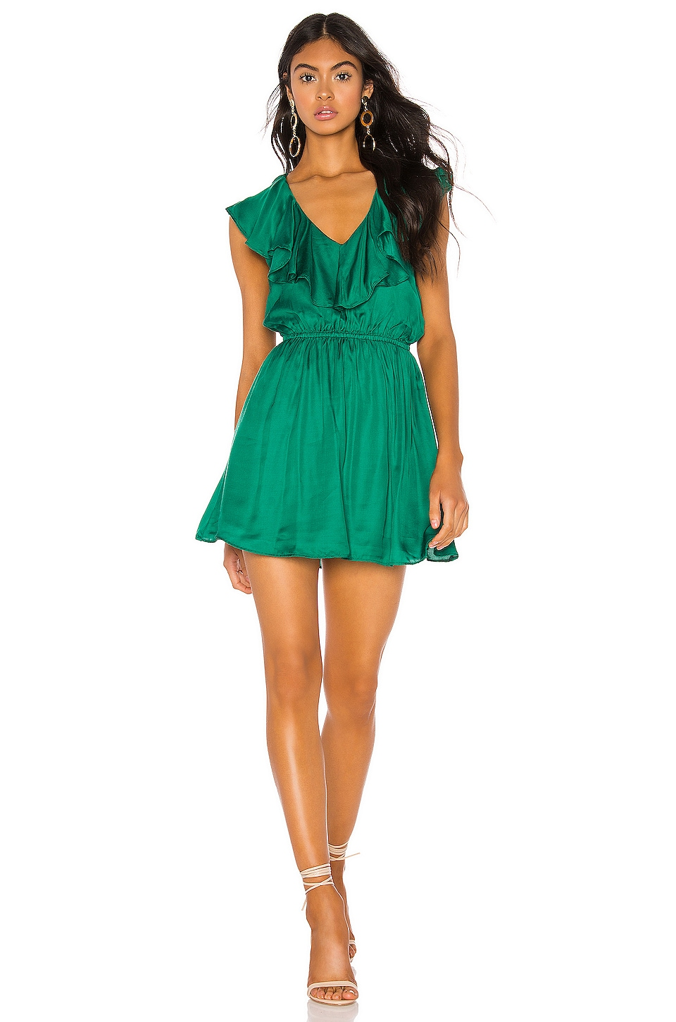 Tularosa Vermont Dress in Kelly Green