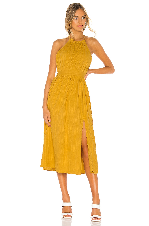 Tularosa Roe Midi Dress in Mustard Yellow