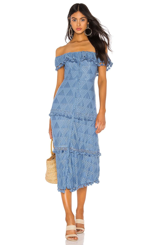 Tularosa Monica Dress in Slate Blue