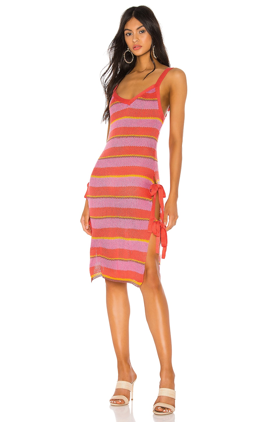 Tularosa Rayo Dress in Pink Stripe