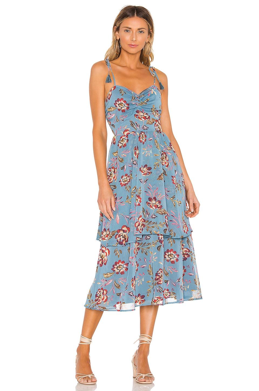 Tularosa Jay Dress in Dusty Blue Floral