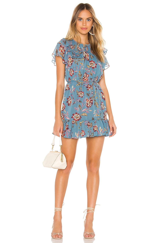 Tularosa Lara Dress in Dusty Blue Floral