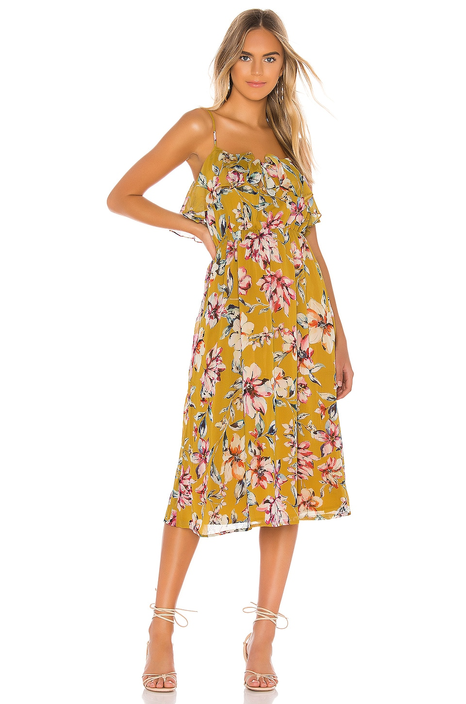 Tularosa Mayven Dress in Mustard Floral