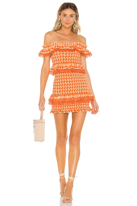Tularosa Teri Dress in Tangerine