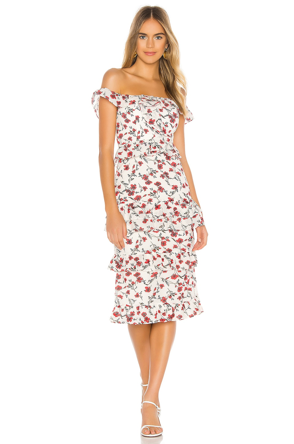 Tularosa Lily Dress in Red Dolly Floral