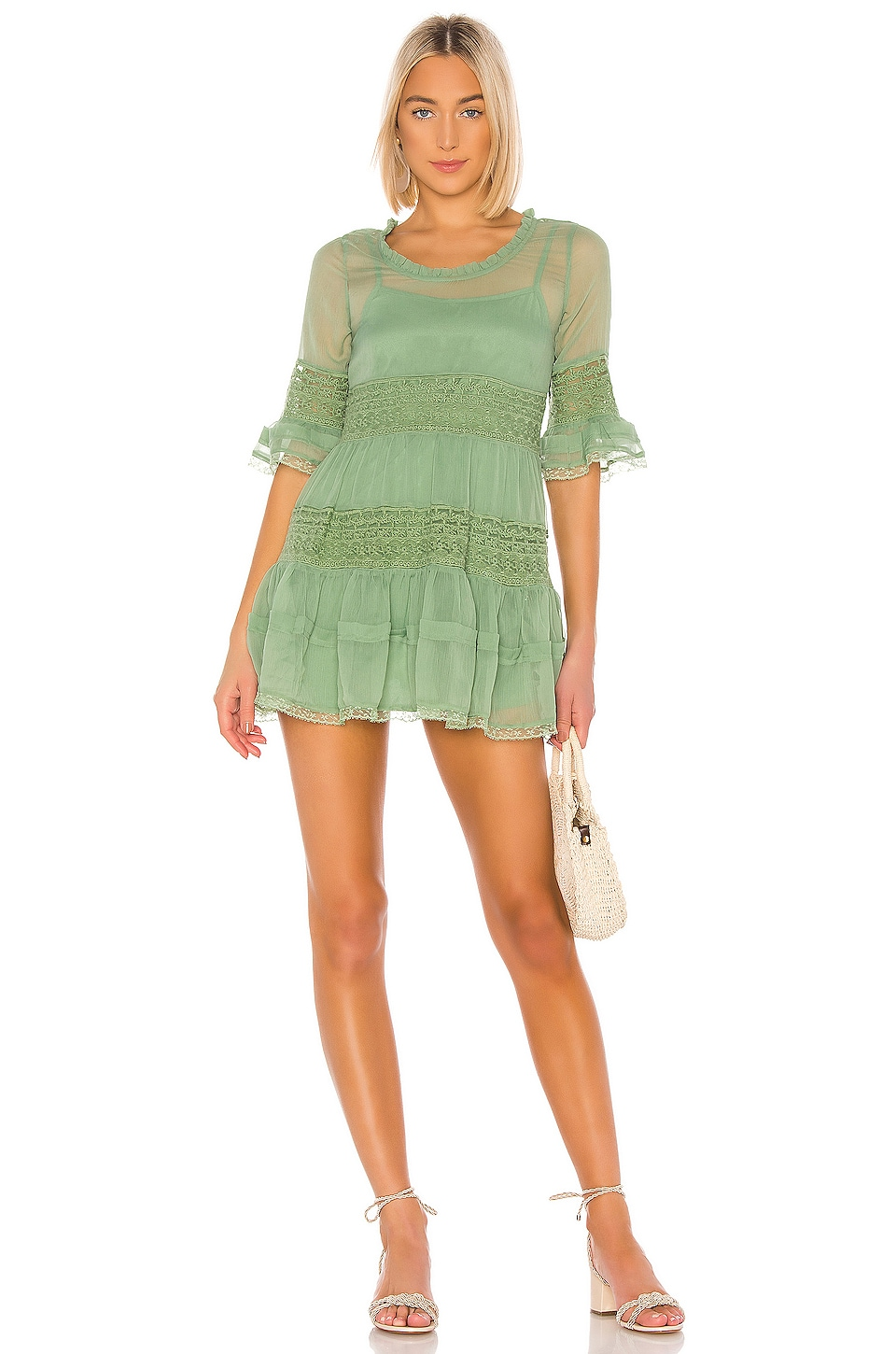 Tularosa Shea Dress in Mint