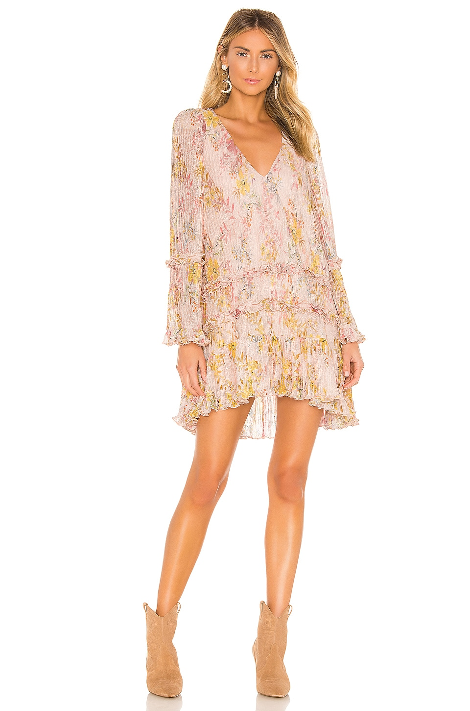 Tularosa Evelyn Dress in Lt Rose Floral