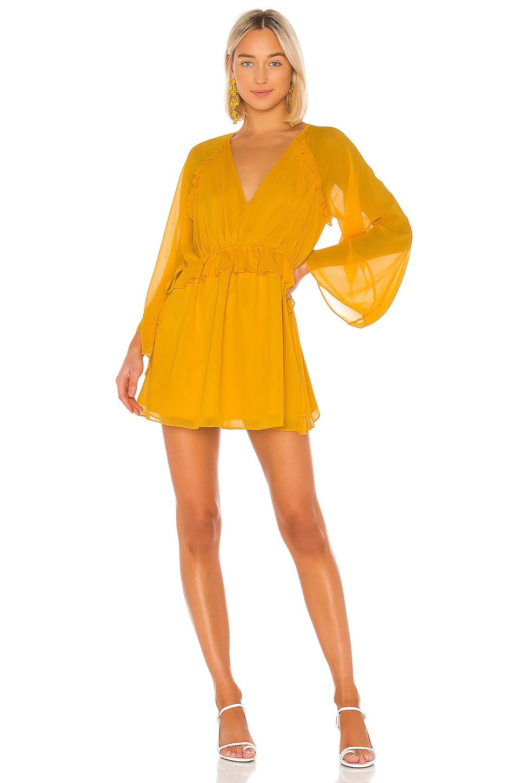 Tularosa Gia Dress in Mustard
