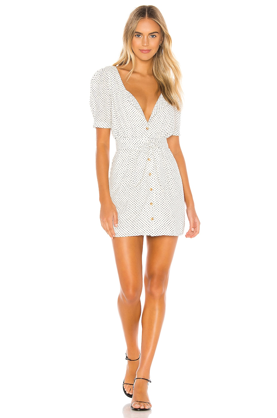 Tularosa Ellis Dress in Ivory & Black Dot