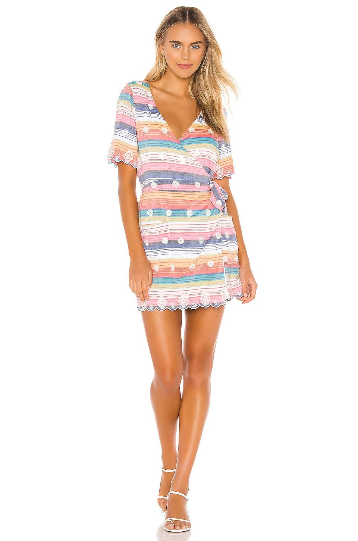 Tularosa Rocky Dress in Multi Stripe