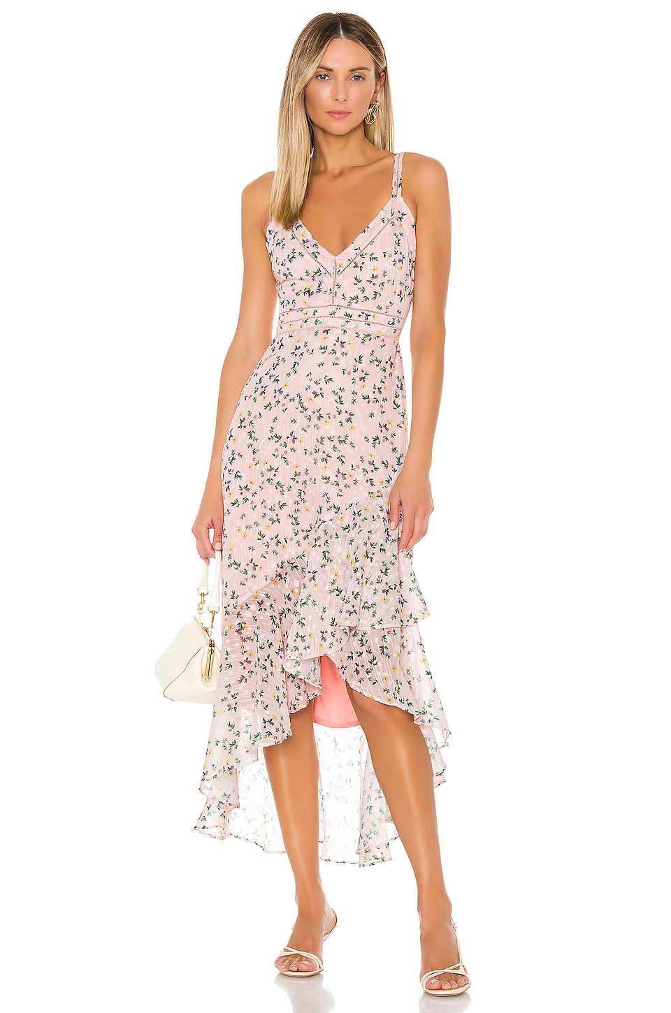 Tularosa Maya Dress in Pale Pink Floral