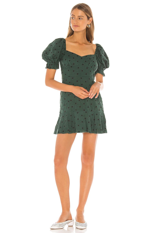 Tularosa Evie Dress in Deep Kelly Green