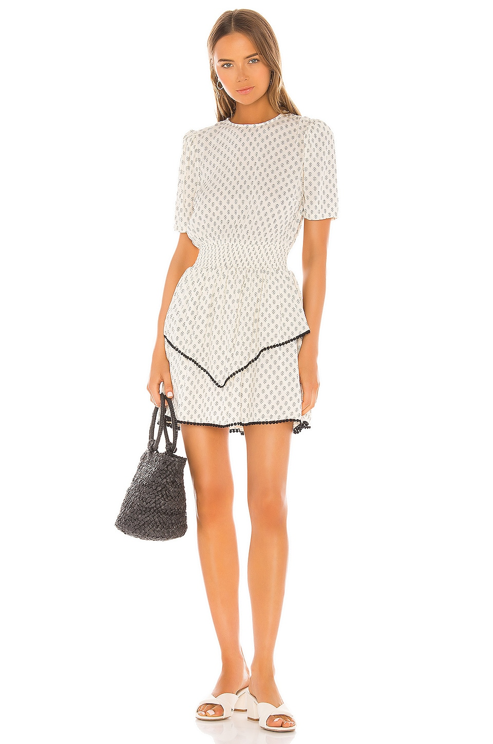 Tularosa Carroll Dress in Cream Tile