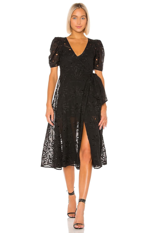 Tularosa Hunt Midi Dress in Black
