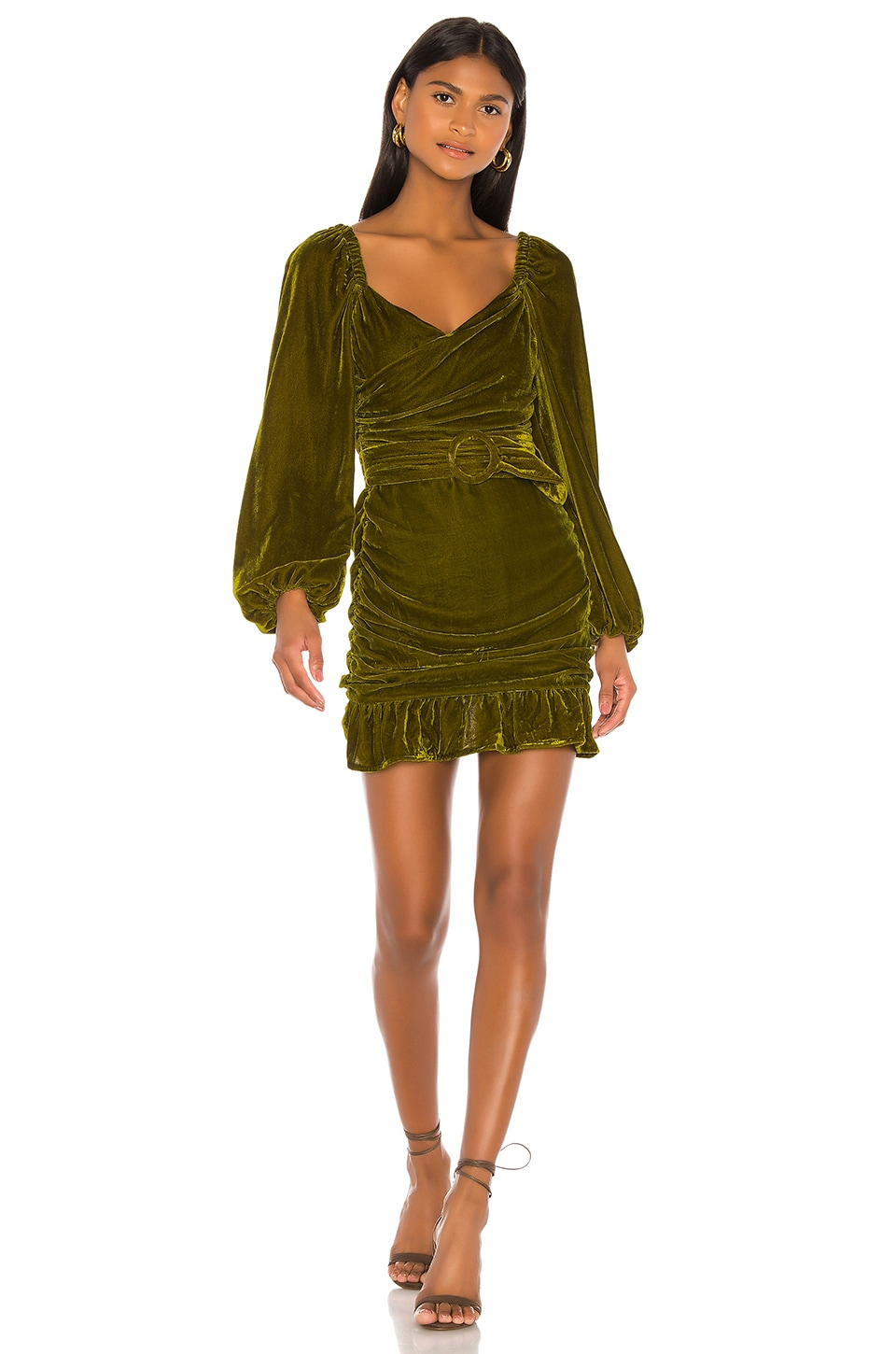 Tularosa Rosa Dress in Moss Green