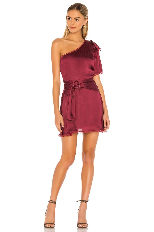 Tularosa Fia Dress in Cabernet Red