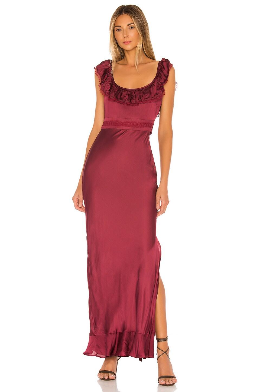 Tularosa Vanna Dress in Cabernet Red