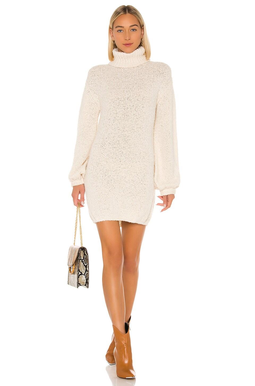Tularosa Diamond Sweater Dress in Ivory