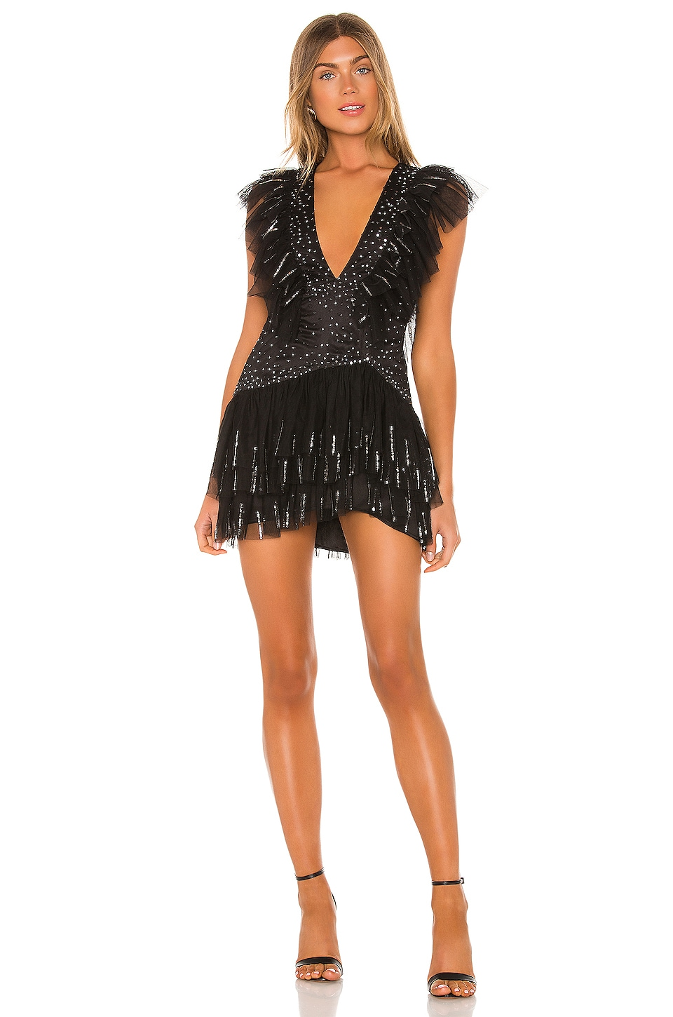 Tularosa Ambre Embellished Mini Dress in Black