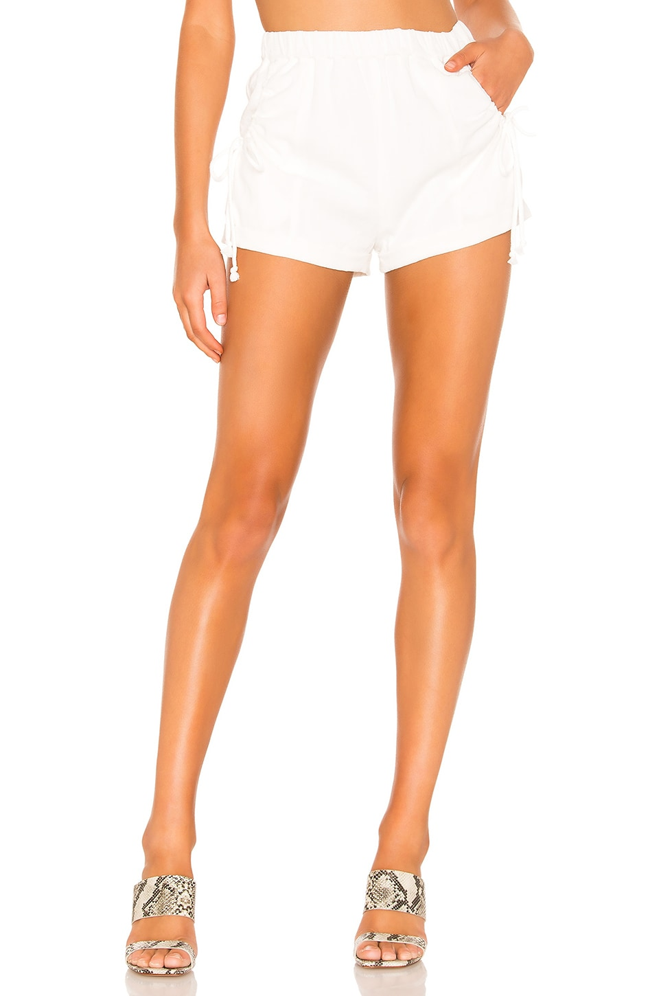 Tularosa Beach Waves Shorts in Ivory