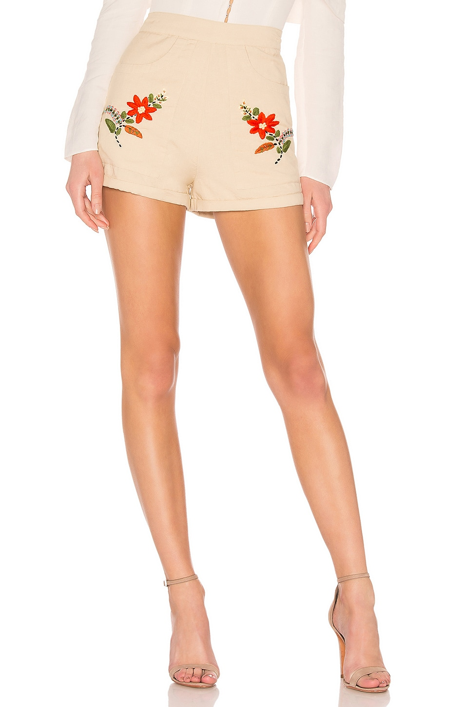 Tularosa Penelope Shorts in Natural Ivory