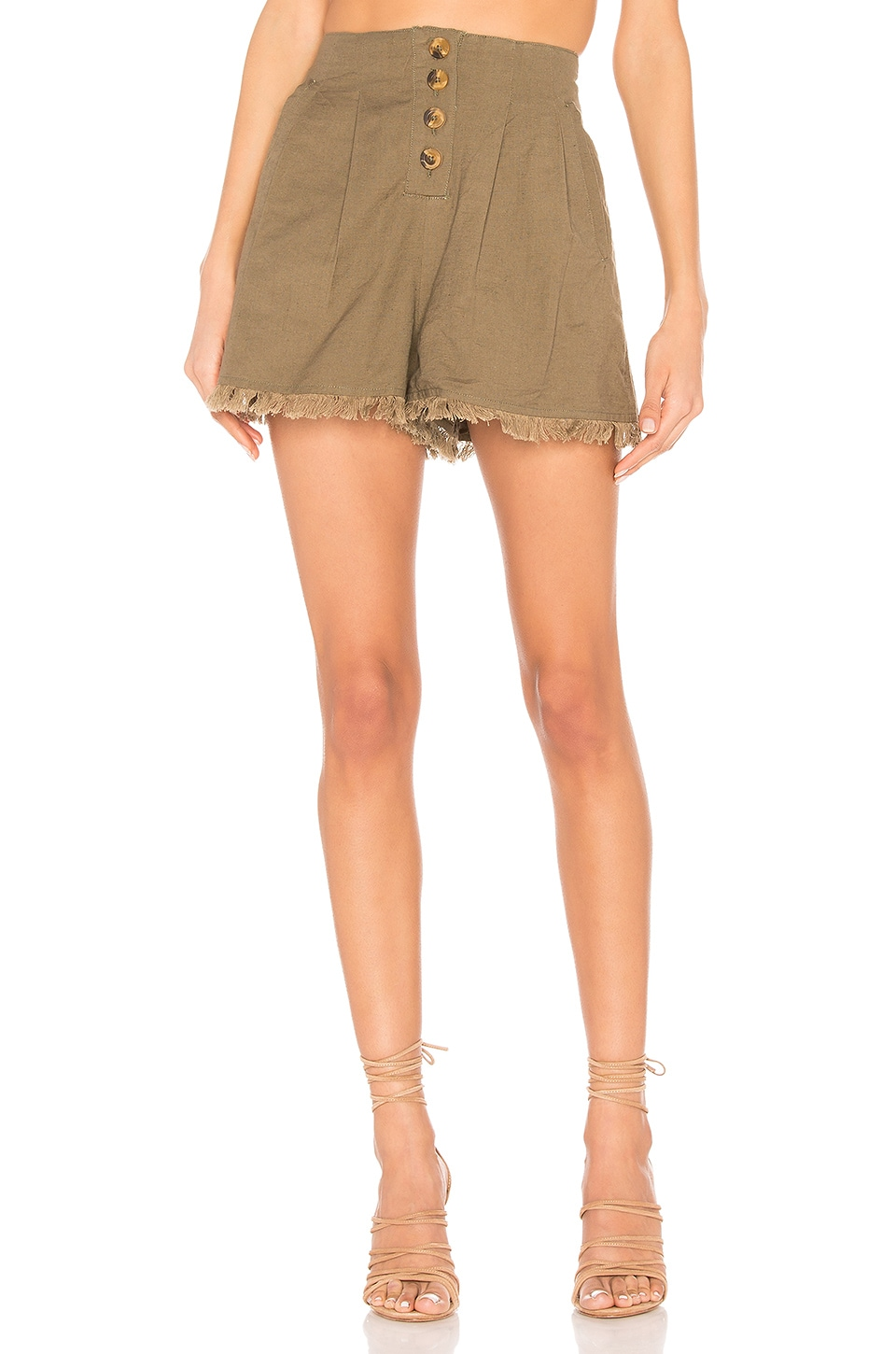Tularosa Makayla Short in Olive Green