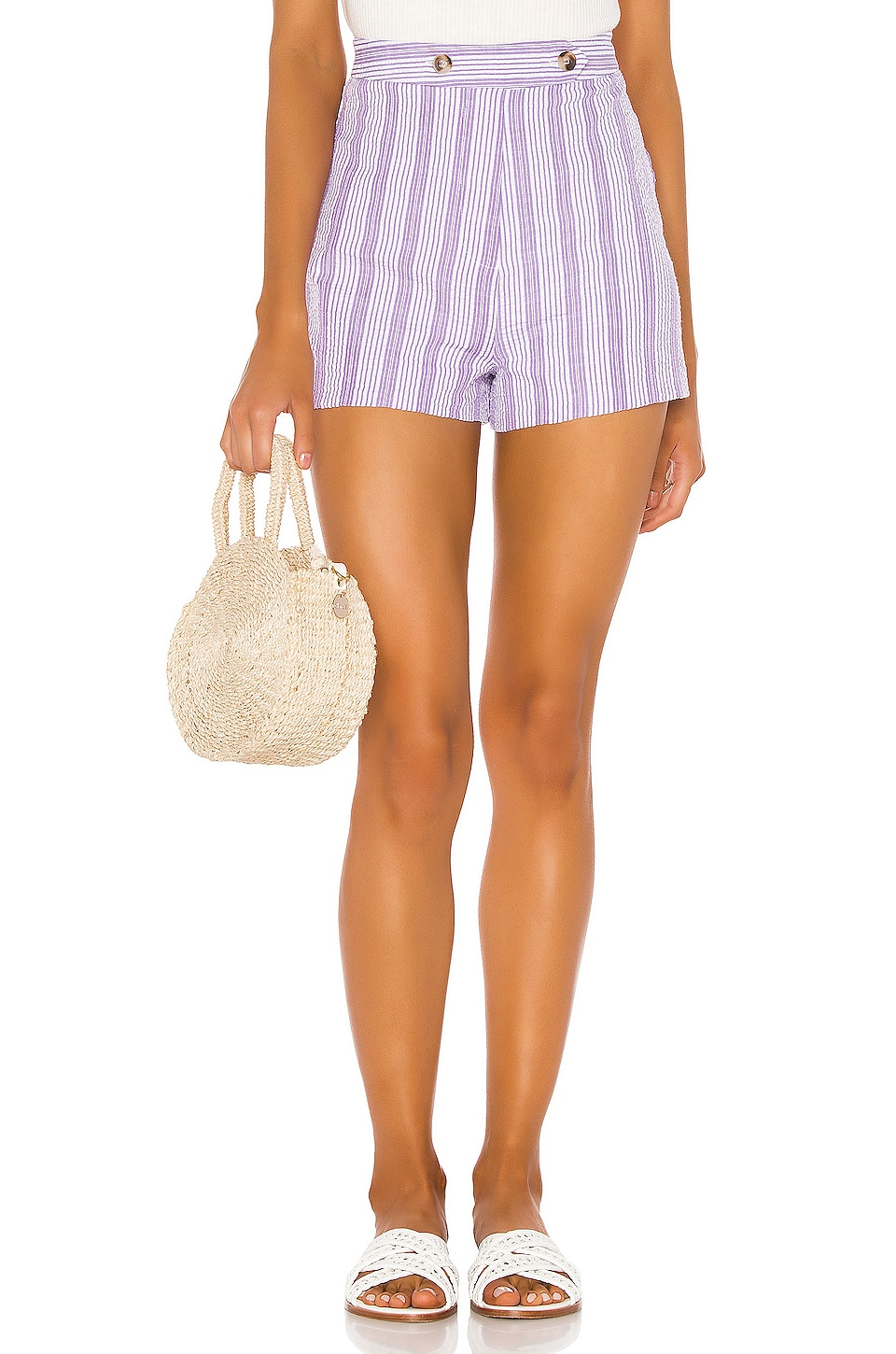 Tularosa Mavis Short in Lilac & White Stripe