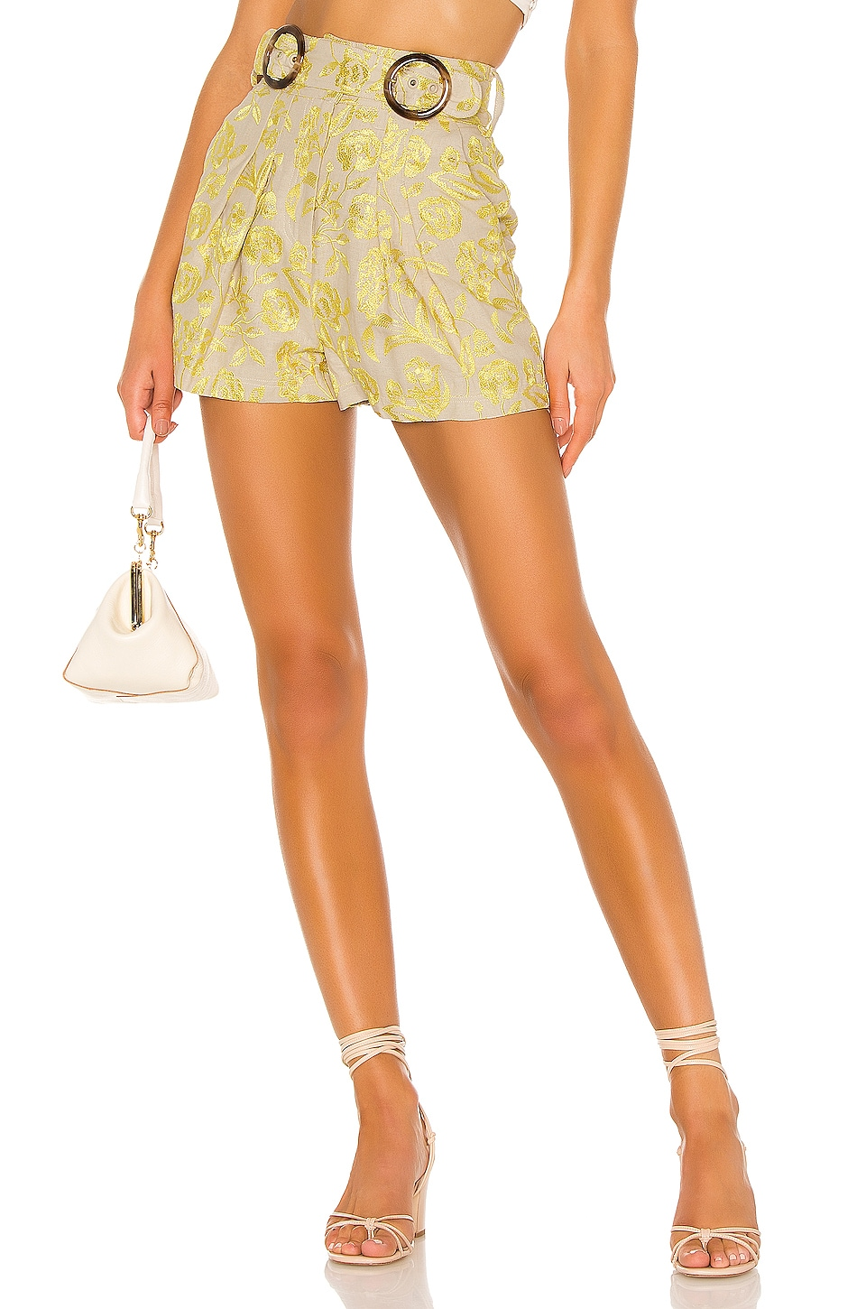 Tularosa Clarita Short in Yellow Floral