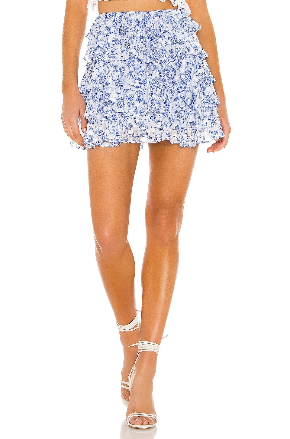 Tularosa Dianna Skort in Country Blue Toile