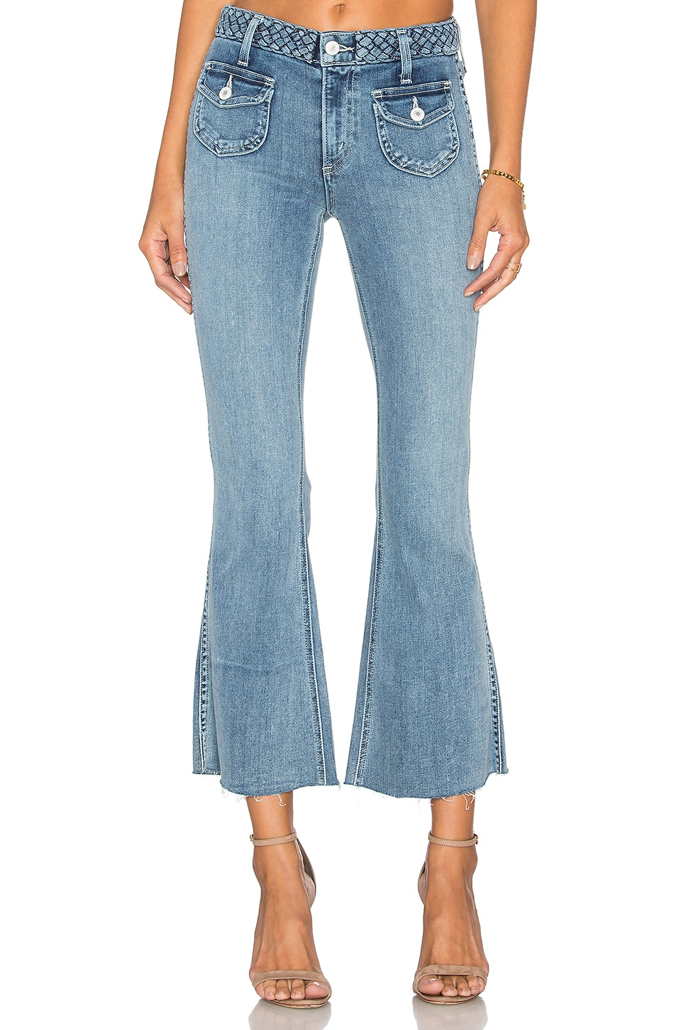 x REVOLVE Penelope Crop Flare Jean by Tularosa