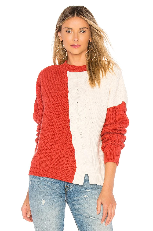 Tularosa Austin Sweater in Auburn & Ivory