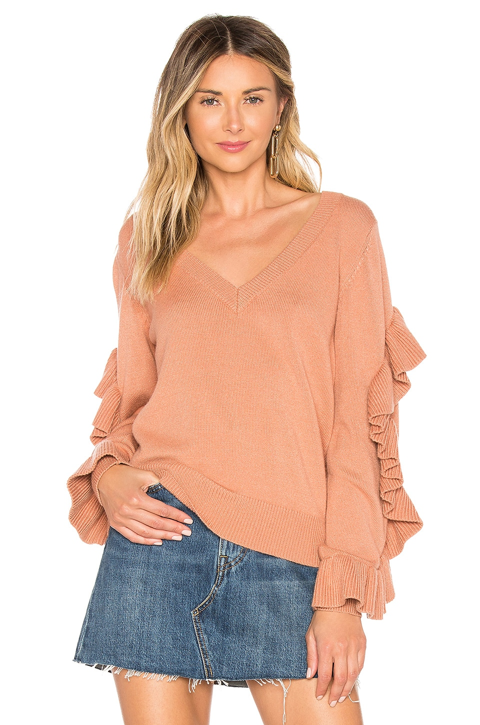 Tularosa Florence Sweater in Dusty Pink