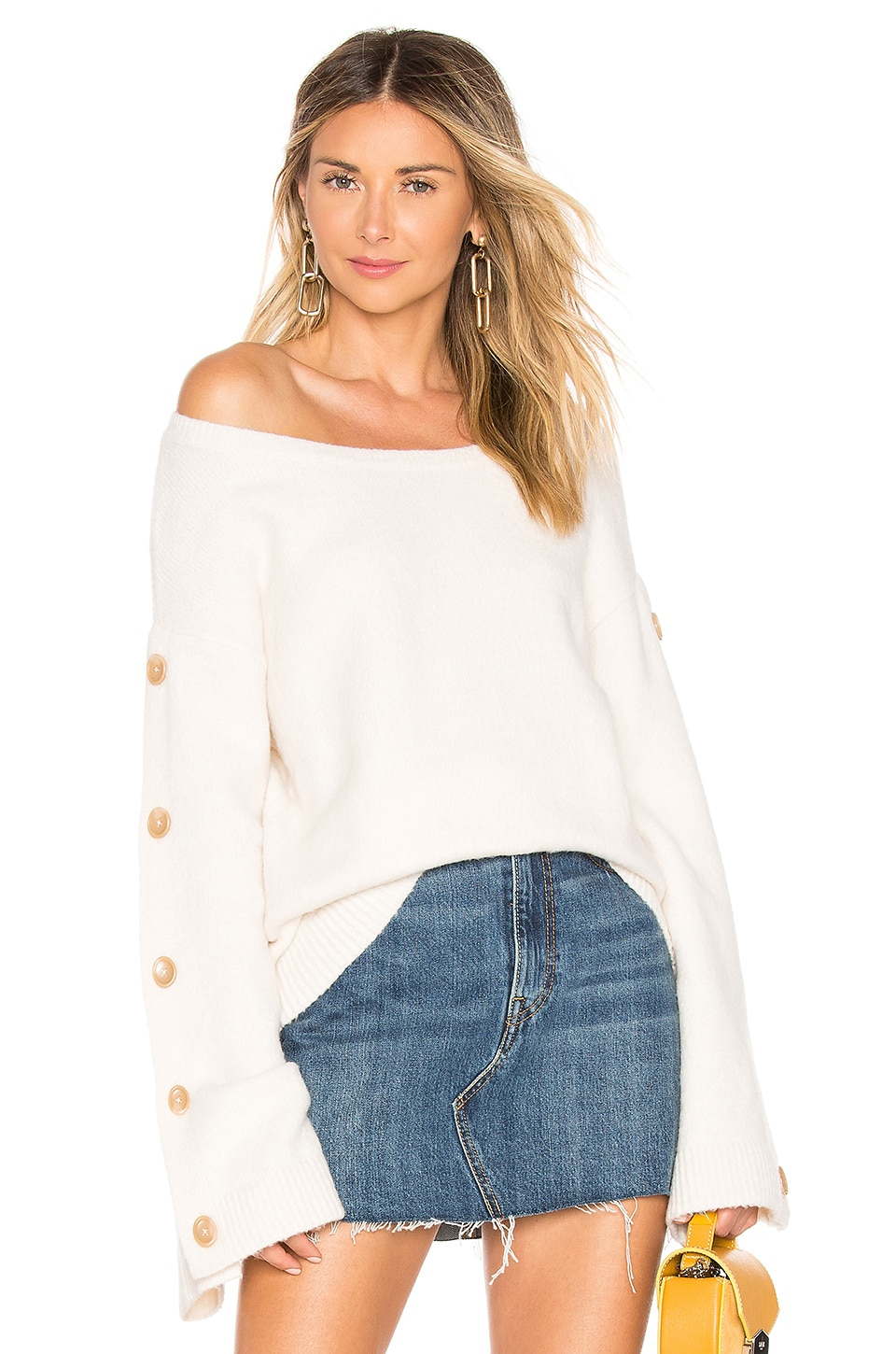 Tularosa Trento Button Sweater in Ivory