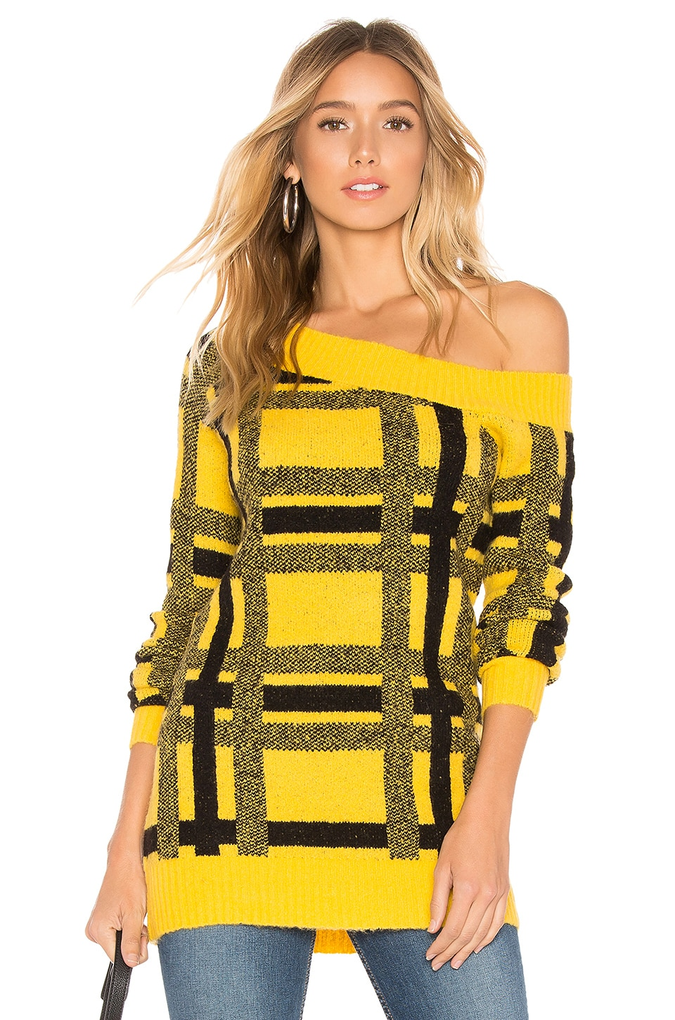 Tularosa Vernon Sweater in Mustard Plaid