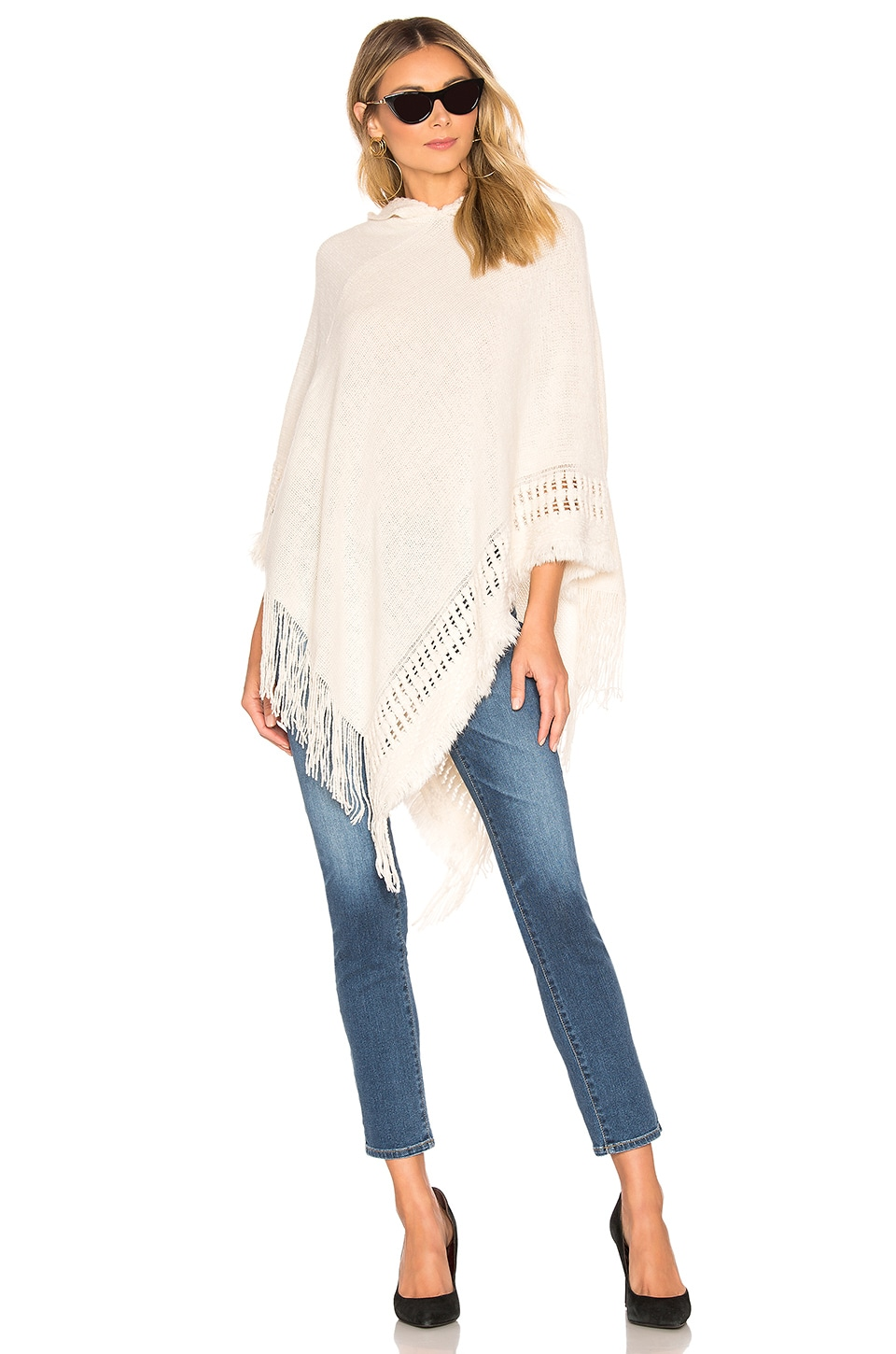 Tularosa Hooded Poncho in Cream
