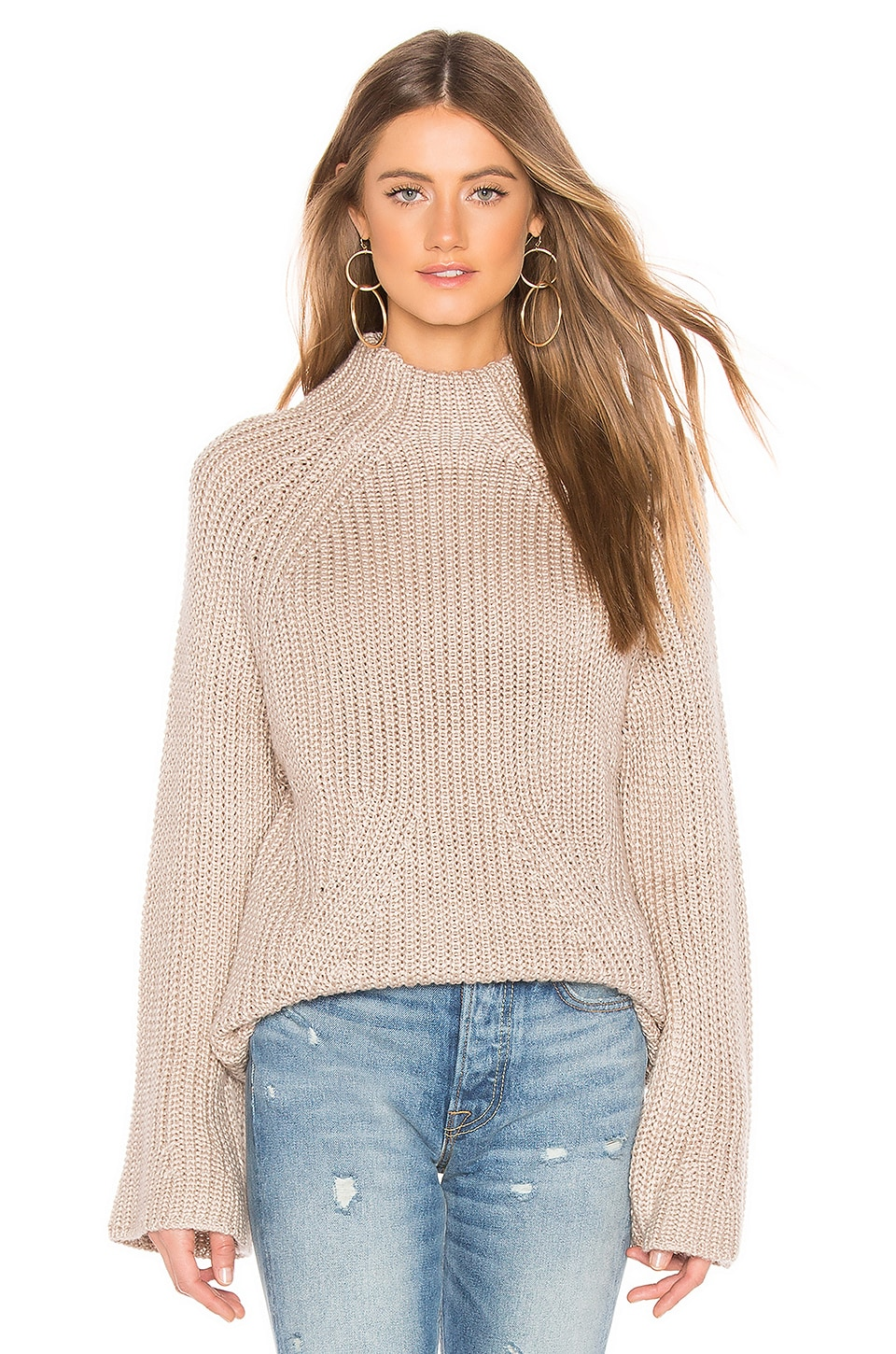 Tularosa Raena Sweater in Taupe