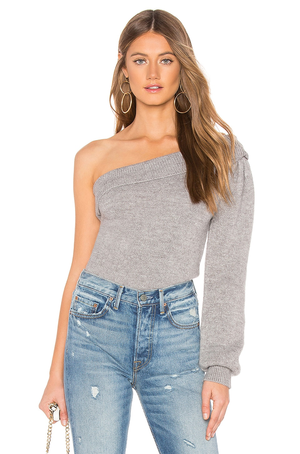 Tularosa Clover Sweater in Solid Grey