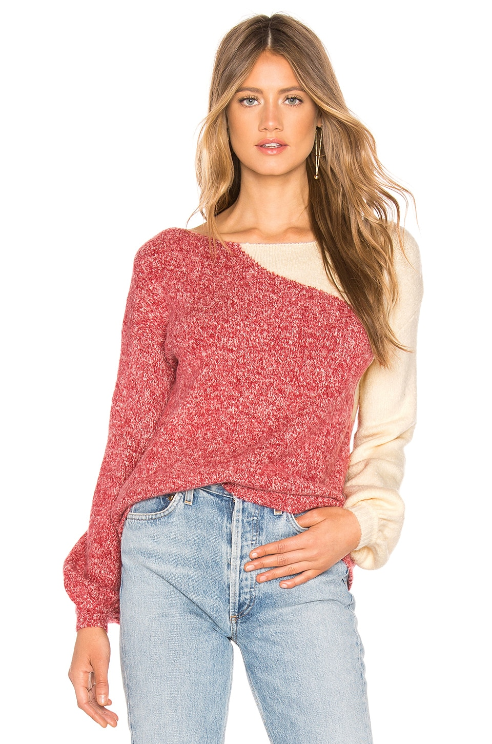 Tularosa Julie Sweater in Red & Ivory