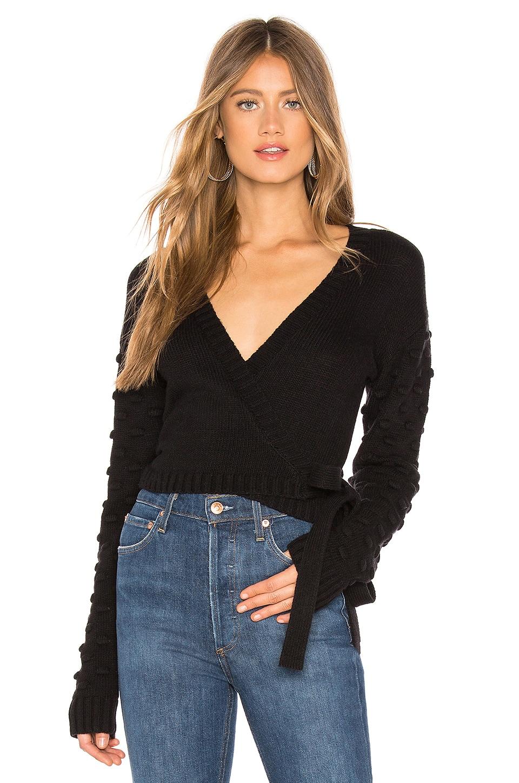 Tularosa Folly Wrap Sweater in Black