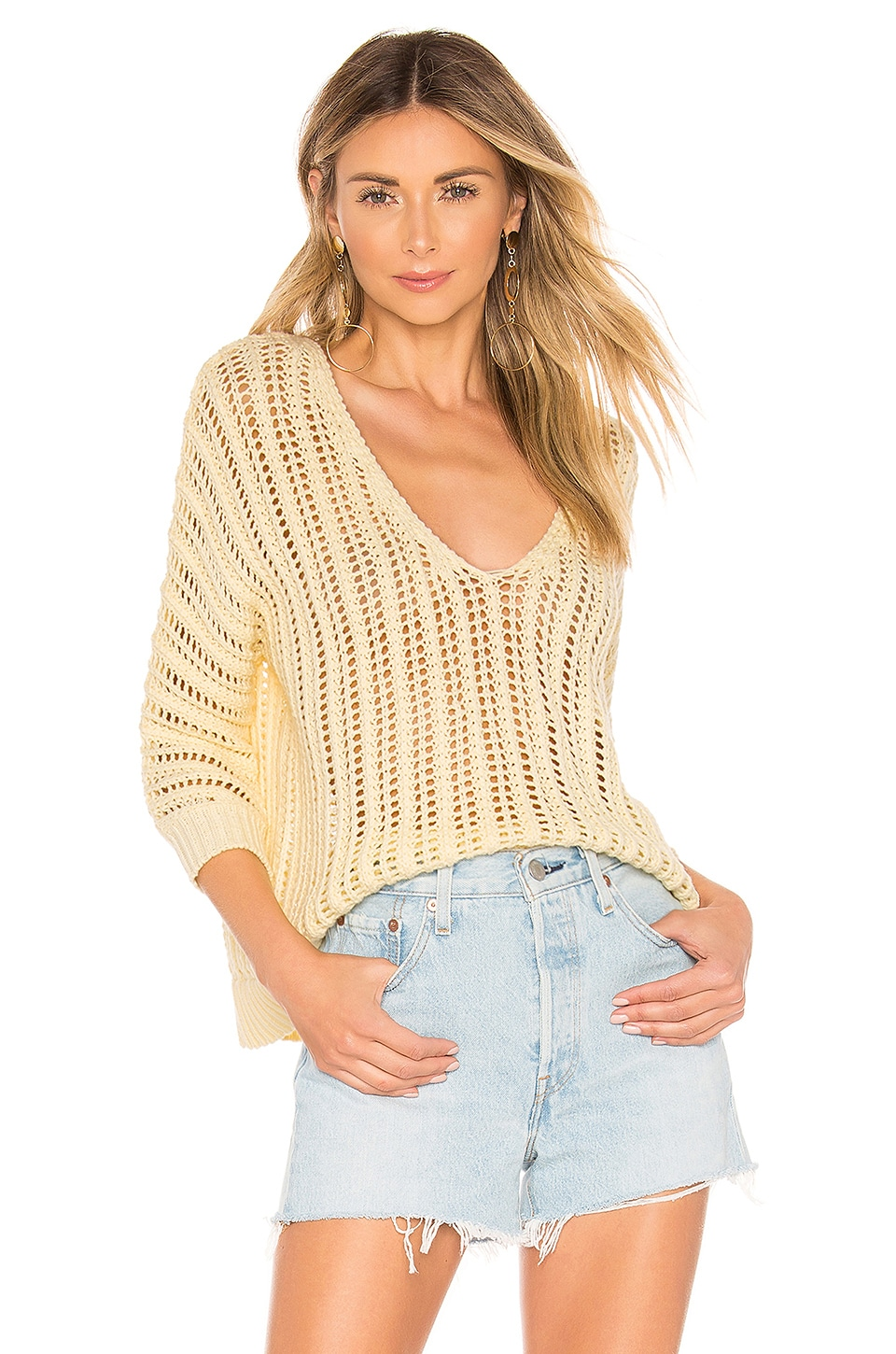 Tularosa Bergamot Sweater in Pale Yellow