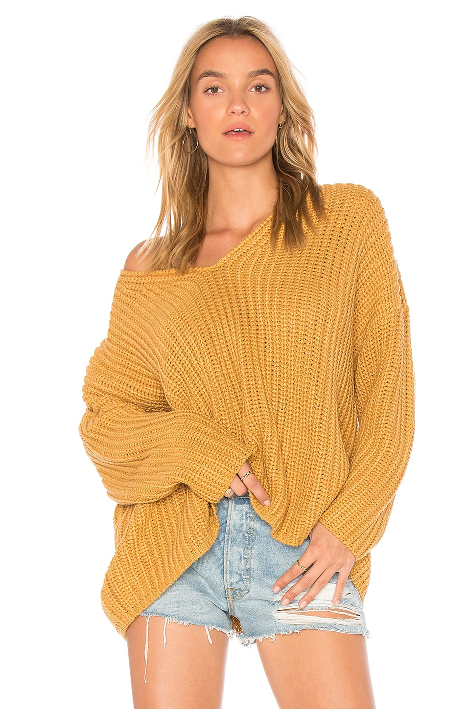 Tularosa Adams Sweater in Mustard & Ochre