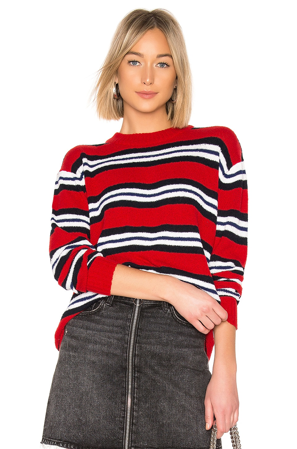 Tularosa x REVOLVE Robbins Sweater in Red Stripe