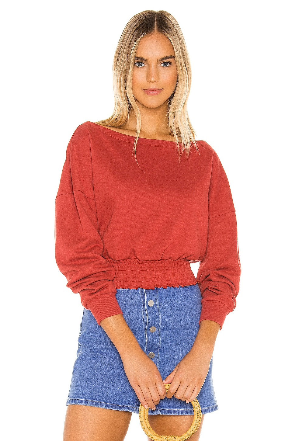Tularosa Kristall Sweatshirt in Brick Red