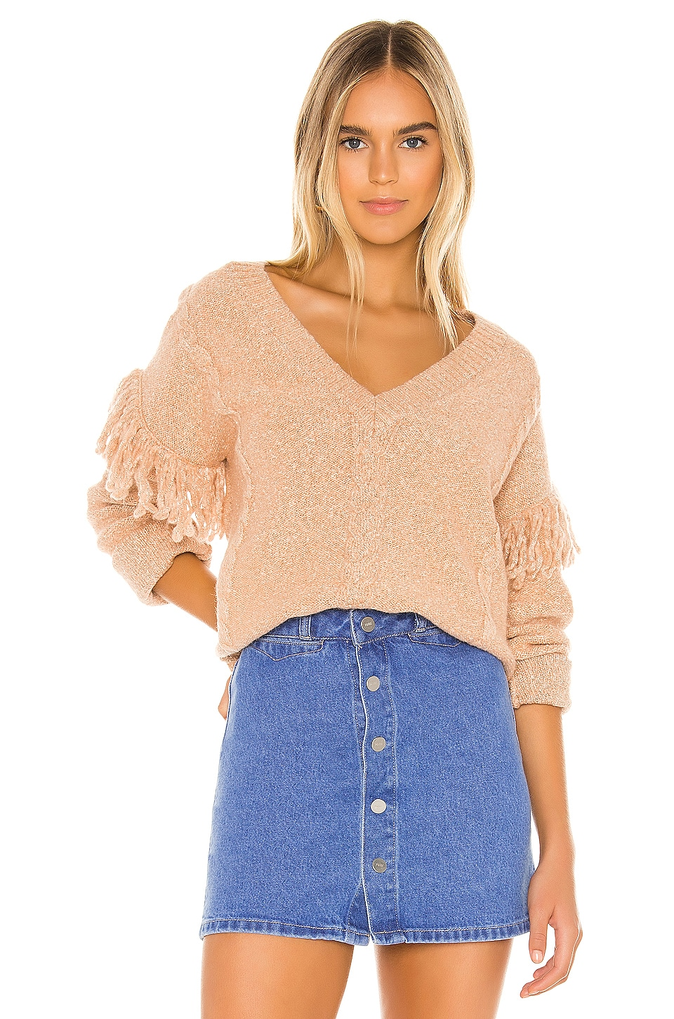 Tularosa Lonestar Sweater in Peach