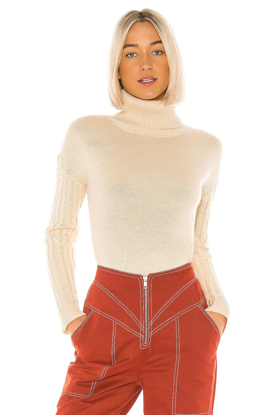 Tularosa Peachy Sweater in Cream
