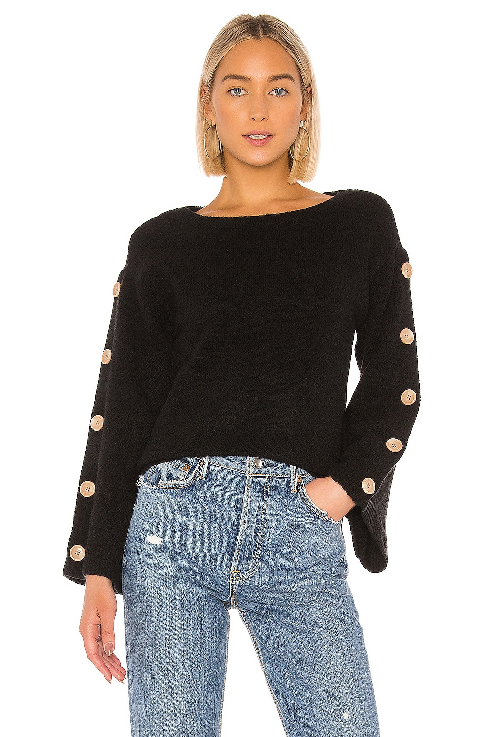 Tularosa Trento Button Sweater in Black