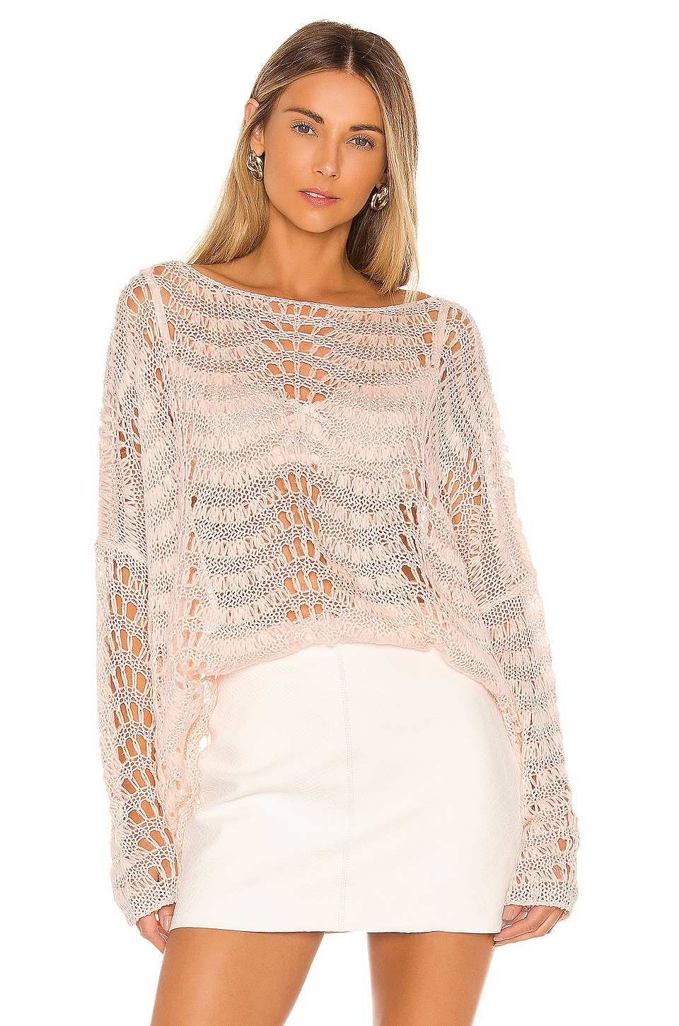 Tularosa Ainsley Sweater in Cloud Pink